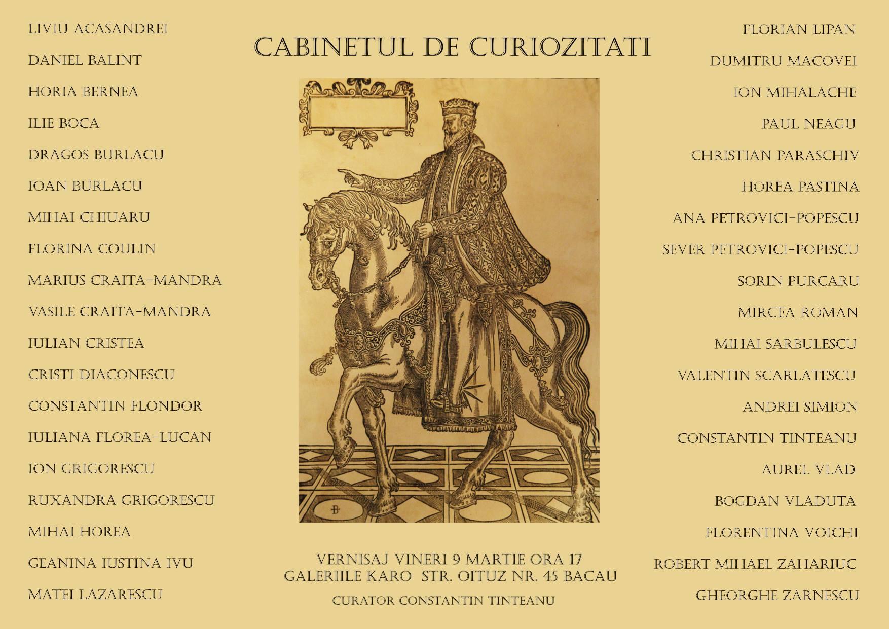 galeriile karo- cabinetul de curiozitati